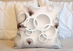 3D Подушка «Абстрактные магнолии» вид 3