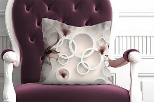 3D Подушка «Абстрактные магнолии» вид 4