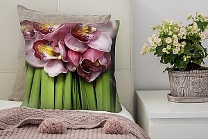 3D Подушка «Красивые орхидеи»