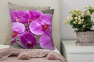 3D Подушка «Очаровательные орхидеи»