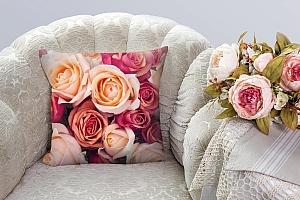 3D Подушка «Ассорти из роз» вид 3