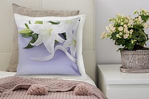 3D Подушка «Лилии с белыми лентами» вид 5