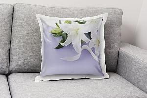 3D Подушка «Лилии с белыми лентами» вид 7