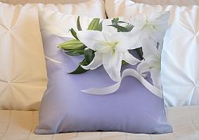 3D Подушка «Лилии с белыми лентами» вид 4