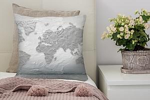 3D Подушка «Карта лофт»