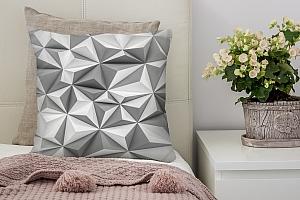 3D Подушка «Мелкие полигоны»