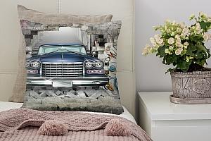 3D Подушка «Автомобиль в подземке»