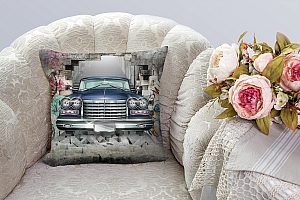 3D Подушка «Автомобиль в подземке» вид 3