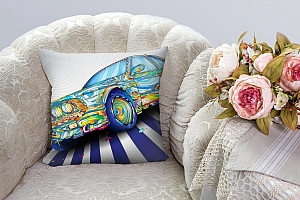 3D Подушка «Красочный бумер» вид 3
