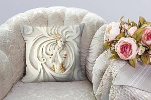 3D Подушка «Барельеф девушка с золотом» вид 5