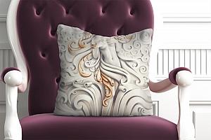 3D Подушка «Барельеф морская принцесса»