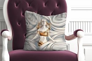 3D Подушка «Барельеф морская владычица» вид 2