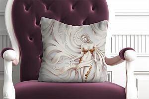 3D Подушка «Барельеф сирена»
