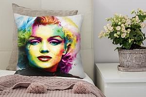 3D Подушка «Красочная монро»
