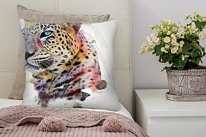 3D Подушка «Красочный леопард»