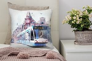 3D Подушка «Европейский трамвай»