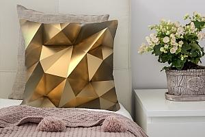 3D Подушка «Роскошные полигоны»