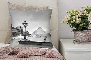 3D Подушка «Площадь у Лувра» вид 2