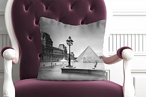 3D Подушка «Площадь у Лувра» вид 4