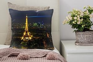 3D Подушка «Ночь в Париже»