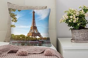 3D Подушка «Лето в Париже»