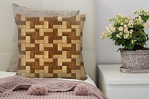 3D Подушка «Деревянные панели»