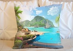 3D Подушка «Курортный островок»