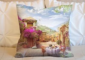 3D Подушка «Тихая сицилийская улочка»