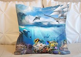 3D Подушка «Морские глубины» вид 2