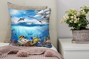 3D Подушка «Морские глубины» вид 3