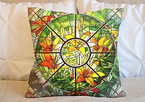 3D Подушка «Витражное окно»