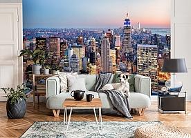 3D Фотообои  «Нью-Йорк: небоскребы»  вид 3