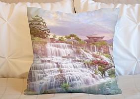 3D Подушка «Долина водопадов в японии»