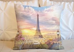 3D Подушка «Весенний Париж»