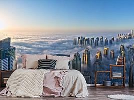 3D фотообои 3D Фотообои  «Туман над Дубаем»  вид 3