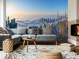 3D фотообои 3D Фотообои  «Туман над Дубаем»  вид 7