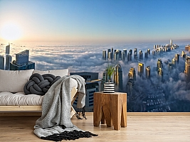 3D Фотообои  «Туман над Дубаем»  вид 5