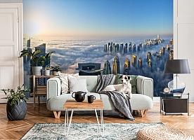 3D Фотообои  «Туман над Дубаем»  вид 3