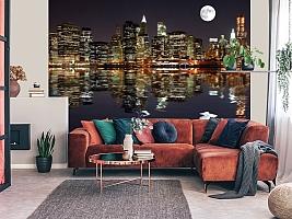 3D фотообои 3D Фотообои  «Луна над ночным городом»  вид 5
