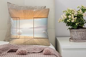 3D Подушка «Футуристичная терраса»