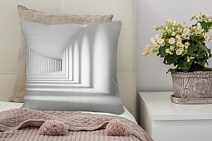 3D Подушка «Белый тоннель»