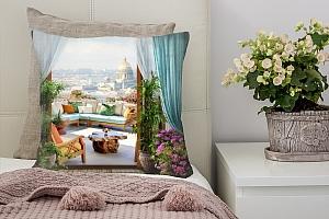 3D Подушка «Уютный балкон»