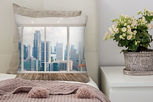 3D Подушка «Терраса город»