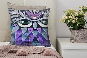 3D Подушка «Граффити сова»