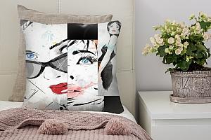 3D Подушка «Модное панно»