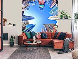 3D фотообои 3D Фотообои  «Таймс-Сквер: вид снизу»  вид 5