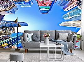 3D фотообои 3D Фотообои  «Таймс-Сквер: вид снизу»  вид 8