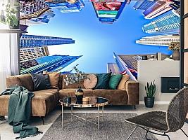 3D фотообои 3D Фотообои  «Таймс-Сквер: вид снизу»  вид 11