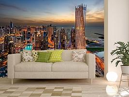 3D Фотообои  «Ночной Дубай»  вид 11