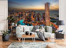 3D Фотообои  «Ночной Дубай»  вид 3